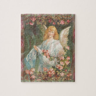 Thankful - Angel with Roses Jigsaw Puzzle