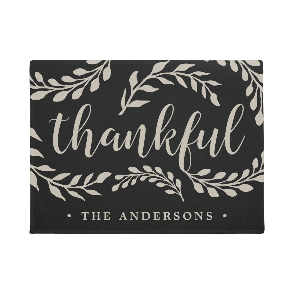 Thankful Branches | Personalized Doormat