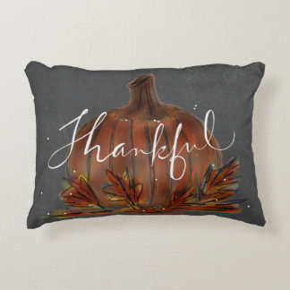 THANKFUL CHALKBOARD ART FALL PILLOW