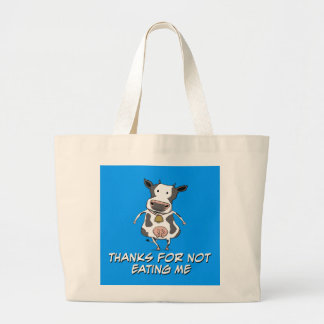 Thankful Cow Canvas Bags