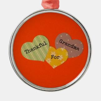Thankful for Grandma Metal Ornament