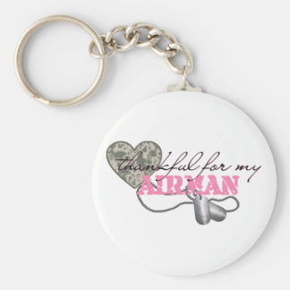 Thankful For My Airman Keychain