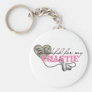 Thankful For My Coastie Basic Round Button Keychain
