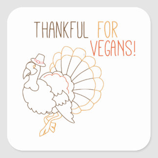 Thankful For Vegans Stickers