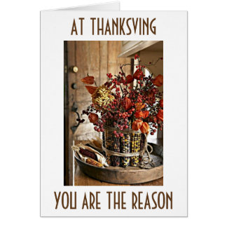 """THANKFUL FOR """"YOU"""" AT THANKSGIVING (AND ALL YEAR) CARD"""