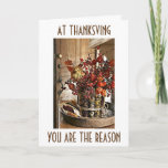 "THANKFUL FOR ""YOU"" AT THANKSGIVING (AND ALL YEAR) HOLIDAY CARD"