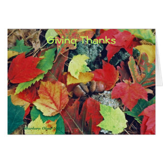 Thankful for you! card