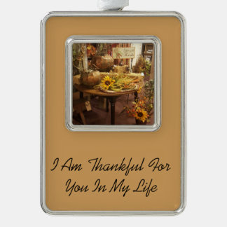 Thankful For You Fall Ornament