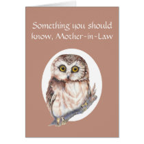 Thankful for You Mother-in-Law Mother's Day Owl