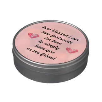 Thankful Friendship Jelly Bean Gift Candy Tins