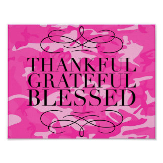 Thankful Grateful Blessed Poster