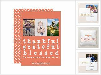 Thankful Grateful Blessed Thanksgiving Collection