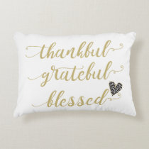 thankful grateful blessed thanksgiving holiday decorative pillow