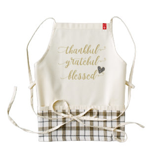 thankful grateful blessed thanksgiving holiday zazzle HEART apron