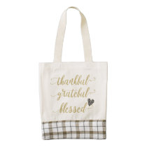 thankful grateful blessed thanksgiving holiday zazzle HEART tote bag
