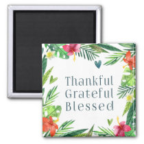 Thankful Grateful Blessed Thanksgiving | Magnet