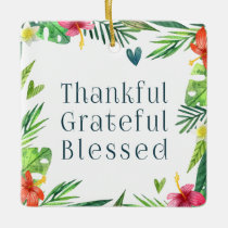 Thankful Grateful Blessed Thanksgiving | Ornament