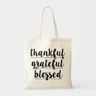 thankful grateful blessed tote bag
