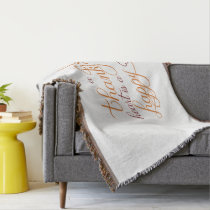 thankful heart is a happy heart thanksgiving throw blanket