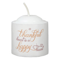 thankful heart is a happy heart thanksgiving votive candle
