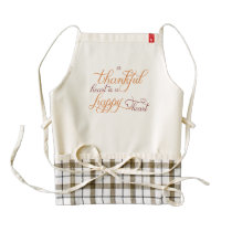 thankful heart is a happy heart thanksgiving zazzle HEART apron