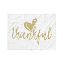 thankful heart thanksgiving fleece blanket