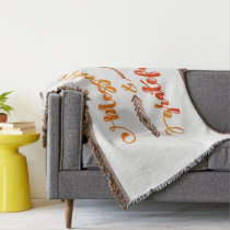 thankful heart thanksgiving quote throw