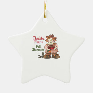 THANKFUL HEARTS FULL STOMACHS CHRISTMAS ORNAMENT