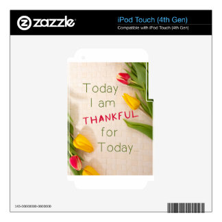 Thankful Motivational Qoutes Decals For iPod Touch 4G