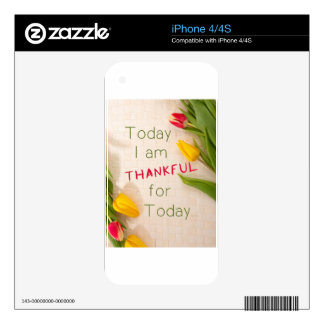 Thankful Motivational Qoutes iPhone 4 Decals