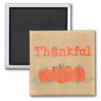 Thankful - Pumpkin Thanksgiving Magnet Fridge Magnet
