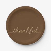 Thankful Thanksgiving paper plate