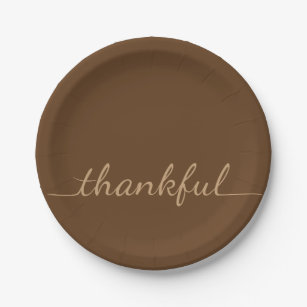 Thankful Thanksgiving paper plate  sc 1 st  Zazzle & Thanksgiving Plates | Thanksgiving Plates Designs
