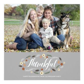 Thankful Thanksgiving Photo Card