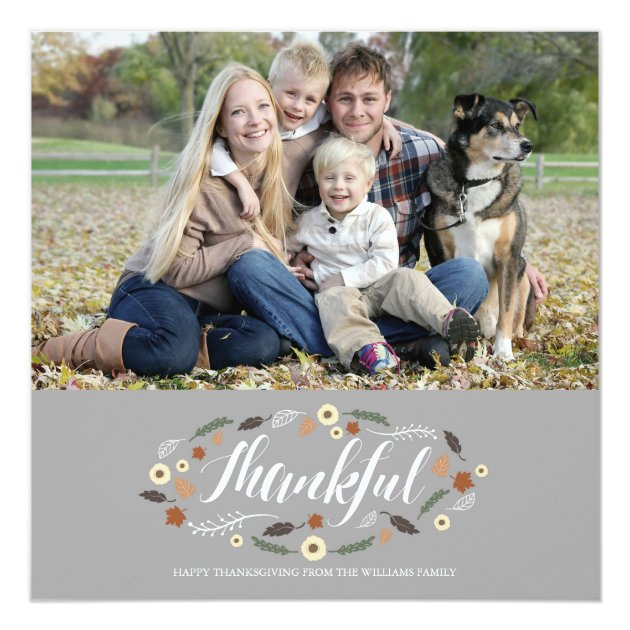 Thankful Thanksgiving Photo Card
