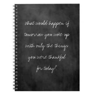 Thankful Today Chalkboard Notebooks