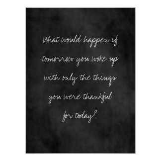 Thankful Today Chalkboard Poster