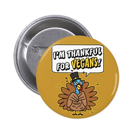 Thankful Turkey Pinback Button