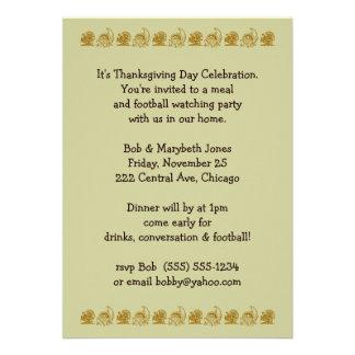 thankgiving party custom invites