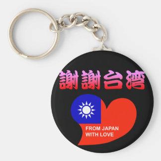 Thanking/apologizing thanking/apologizing Taiwan Basic Round Button Keychain
