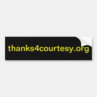 thanks4courtesy.org (pegatina para el parachoques) pegatina para auto