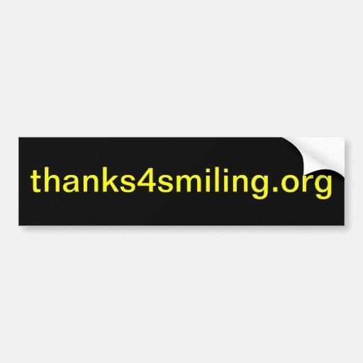 thanks4smiling.org (pegatinas para el parachoques) pegatina de parachoque