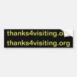 thanks4visiting.org (el corte 2 hace a 2 pegatinas etiqueta de parachoque