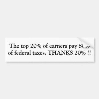 THANKS 20% !! BUMPER STICKER