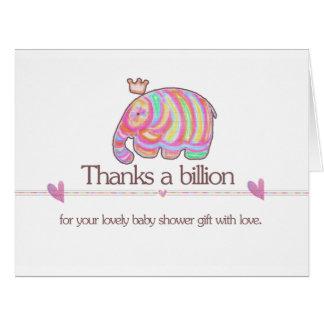 Thanks a Billion from Cute Marble Little Elephant Card