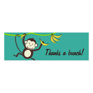 Thanks a Bunch, Monkey Gift Tags Mini Business Card