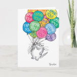 """THANKS A BUNCH THANK YOU CARD<br><div class=""""desc"""">A cheerful cat with many colorful balloons is carried away with gratitude.</div>"""