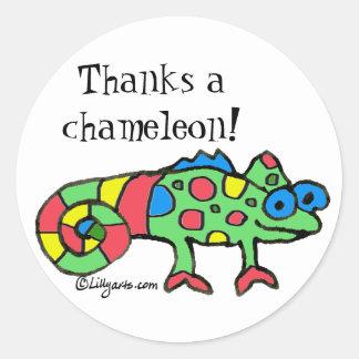Thanks a Chameleon Sticker