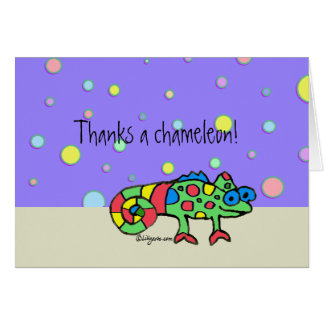 Thanks a Chameleon Thank You Card