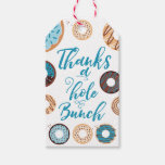 Hand shaped Thanks a Hole Bunch Blue Favor Tags